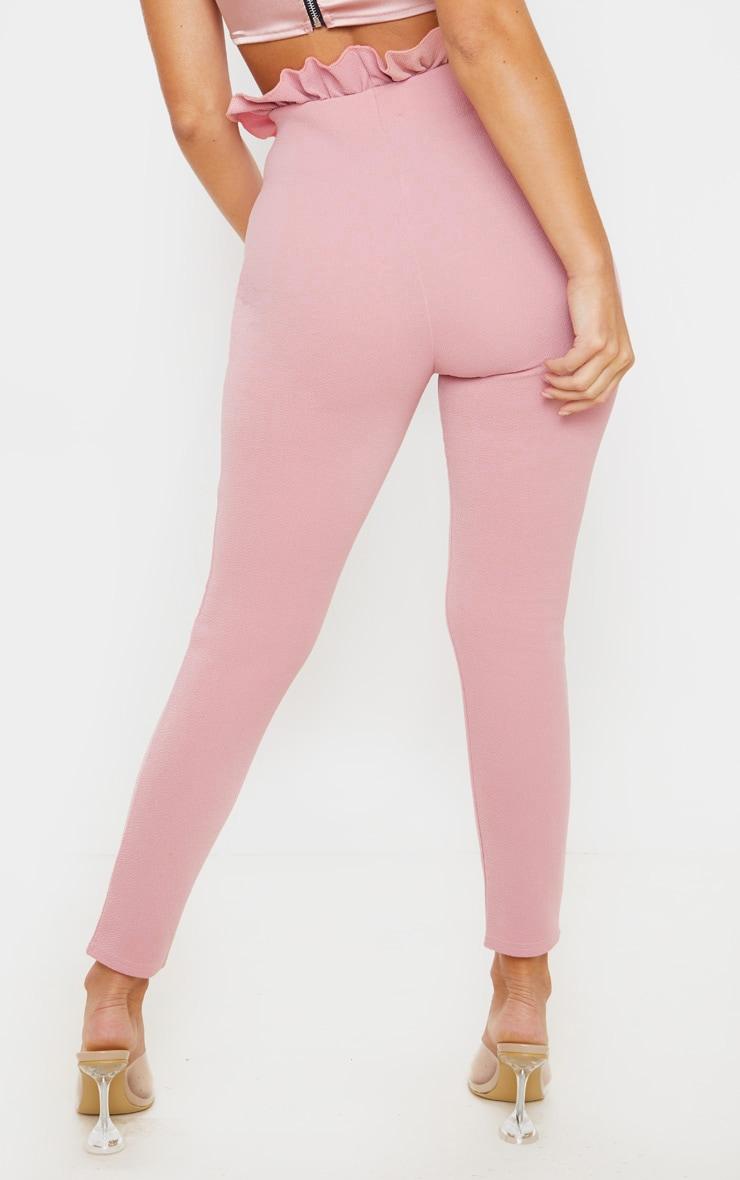 Dusty Pink Paperbag Skinny Pants  4