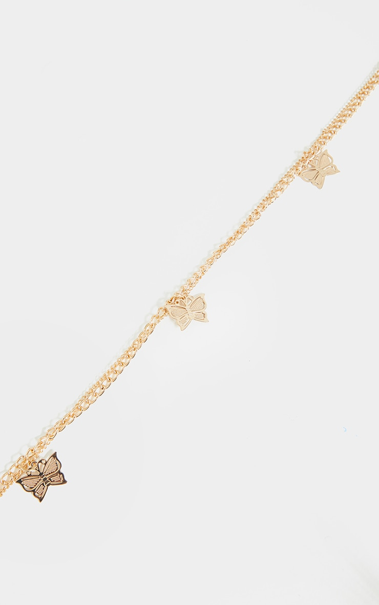 Gold Butterfly Layering Chain Belt 2