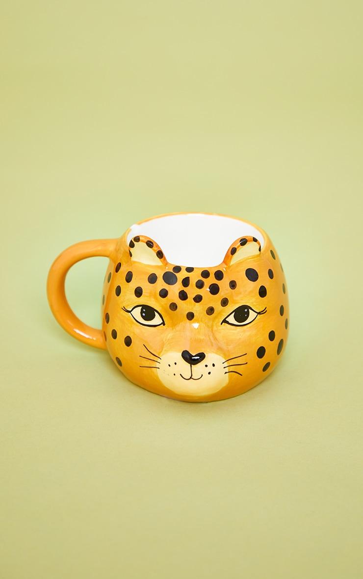 Leopard Love Shaped Mug 3