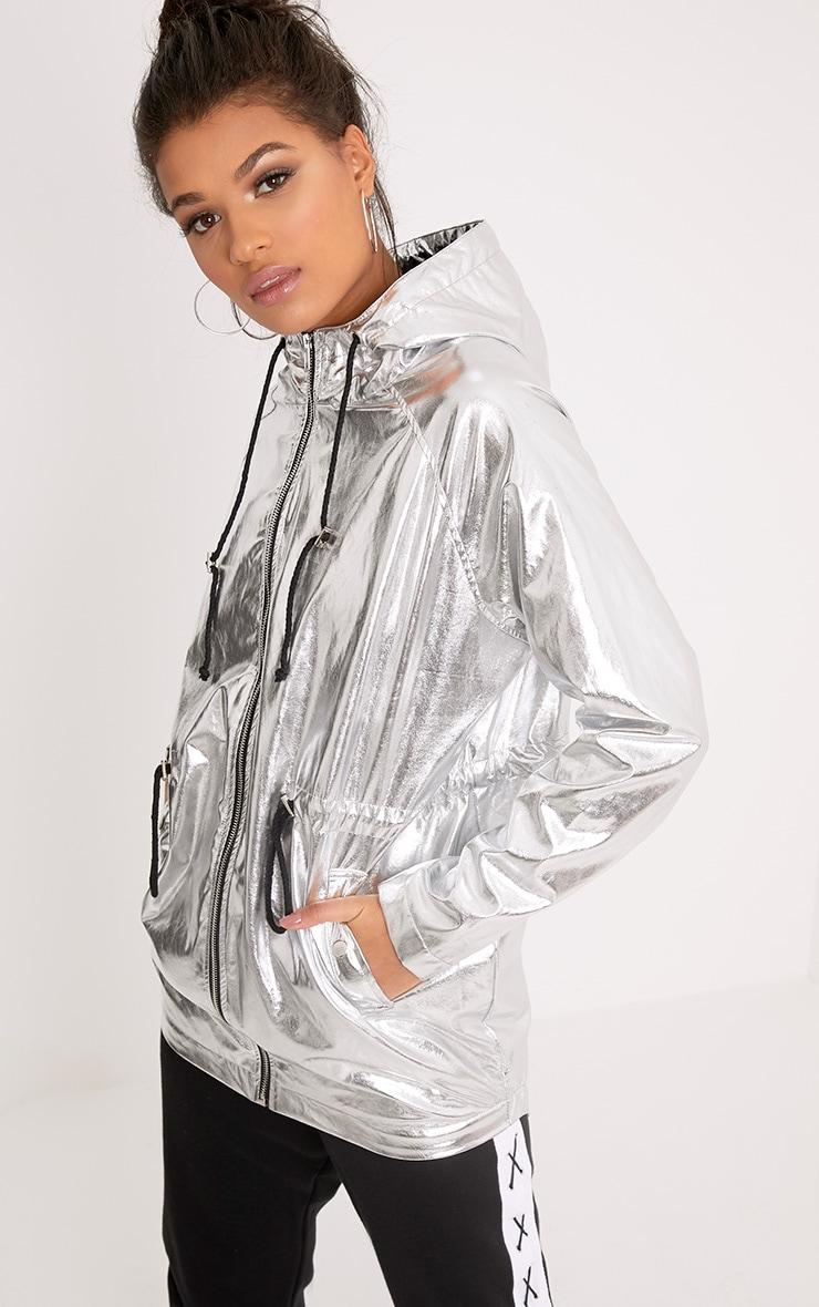 Jenny Silver Metallic Rain Mac 5