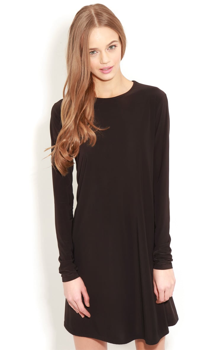 Ellen Black Long Sleeved Swing Dress  1