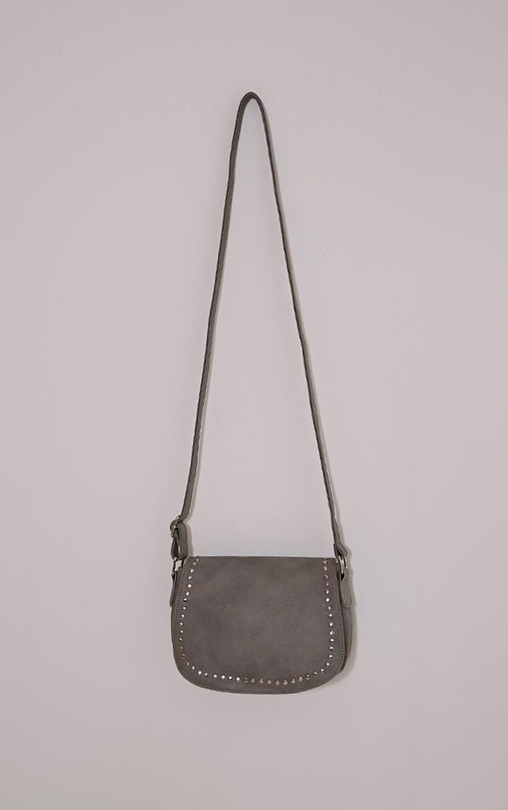 Dusti Grey Studded Shoulder Bag 4