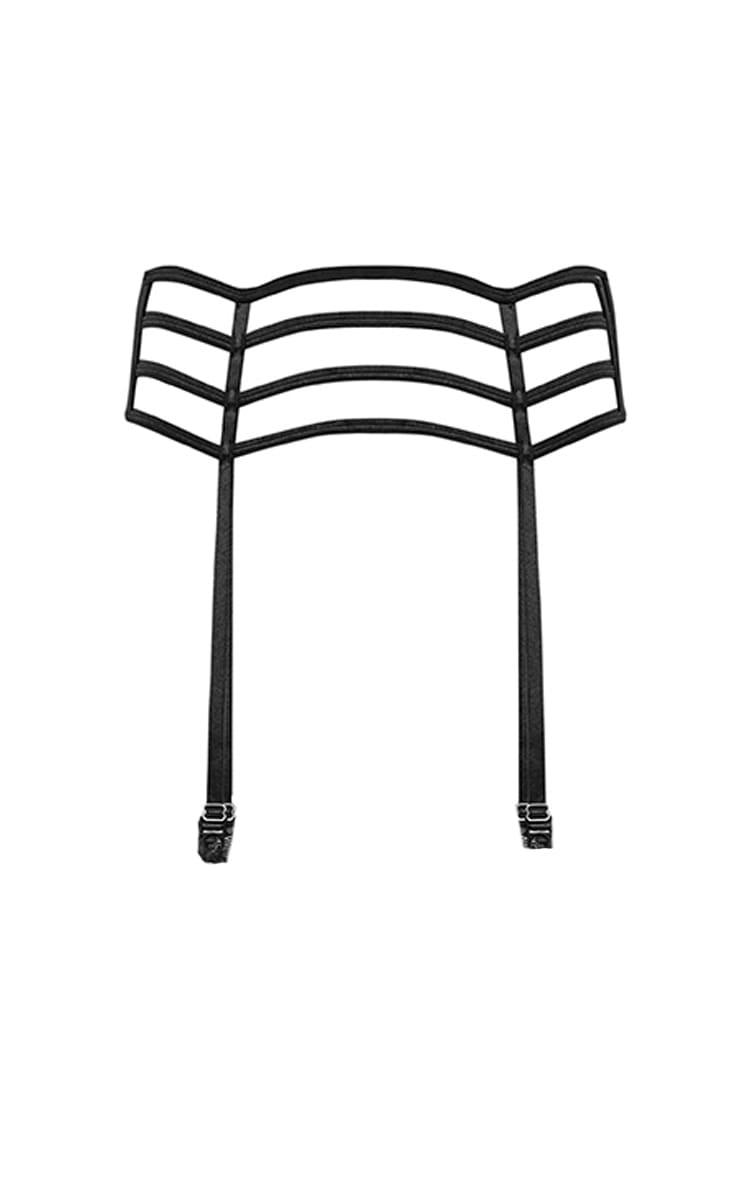 Jemina Black Strappy Caged Suspender Belt 3