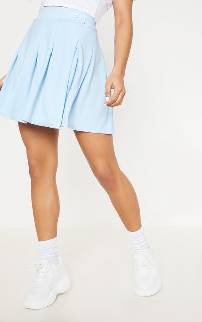 Pastel Blue Pleated Tennis Skirt