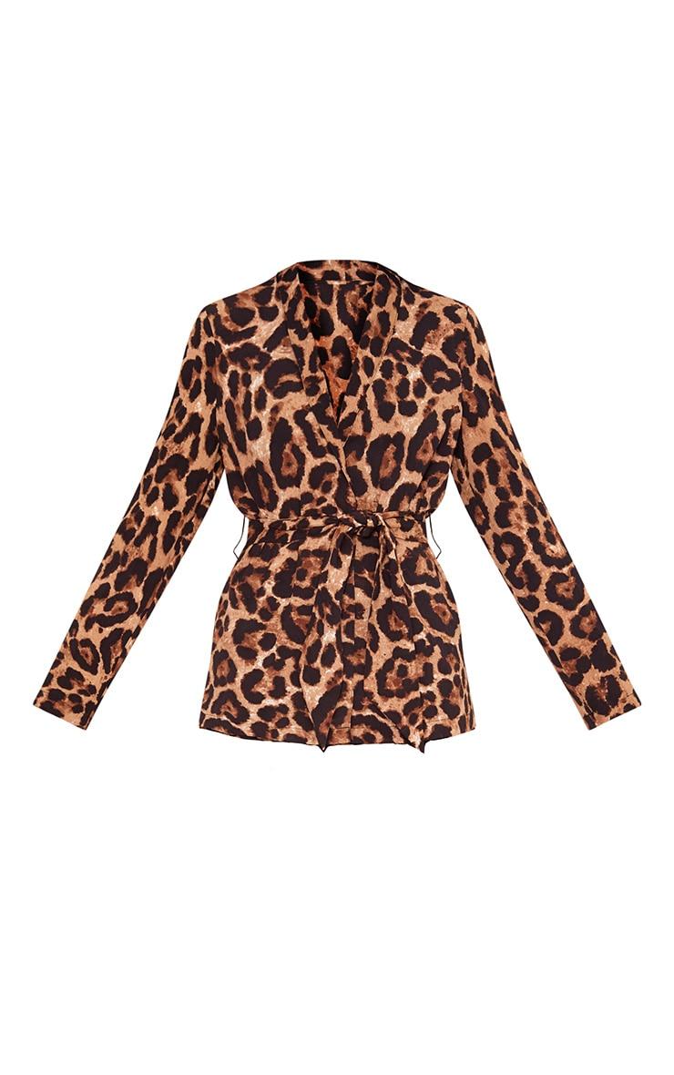 Leopard Belted Blazer 3