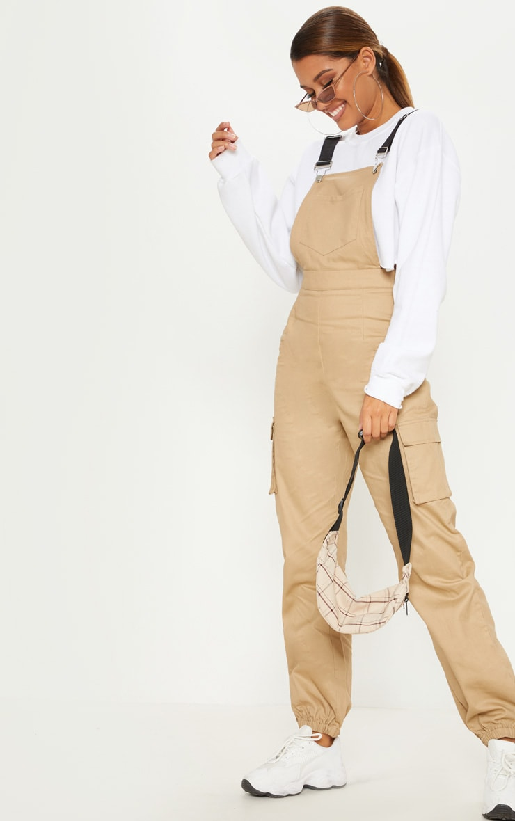 CAMEL CONTRAST DETAIL DUNGAREES