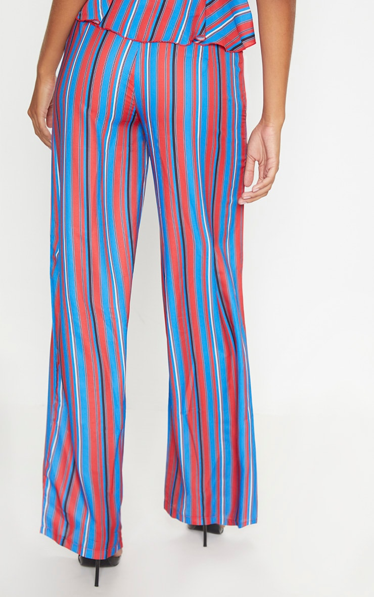 Red Stripe Wide Leg Trouser 4