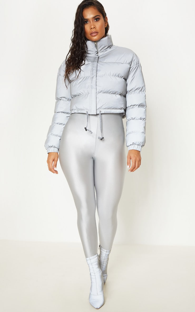 Grey Reflective Puffer Jacket  4