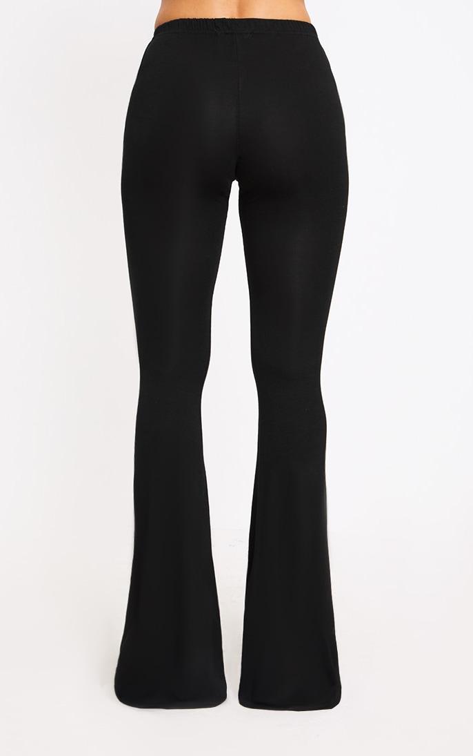 Petite Black Basic Flare Leg Pants 4