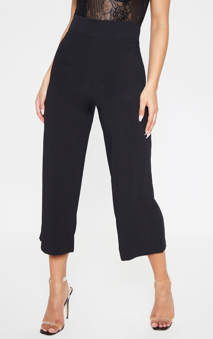 Tazmin Black High Waisted Culottes 2