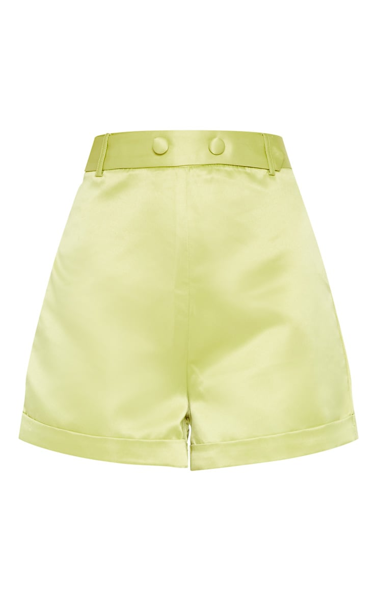Lime Satin Suit Shorts 3