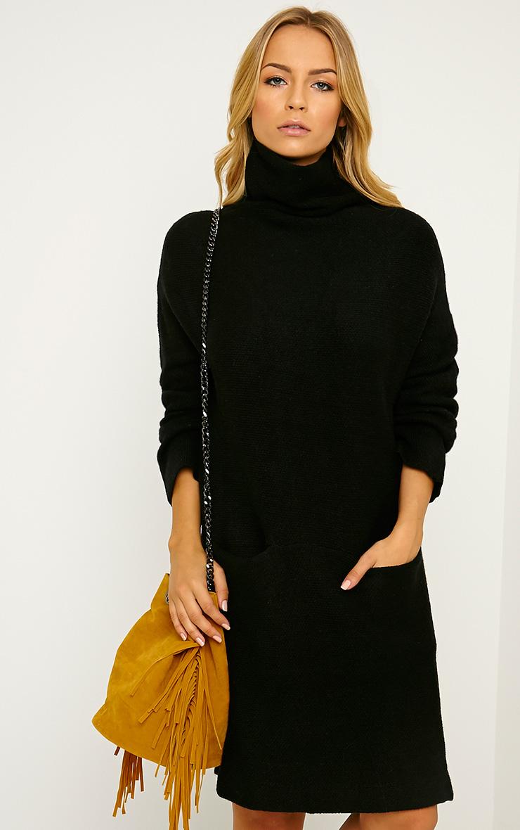 Nim Black Oversized Knitted Dress 1