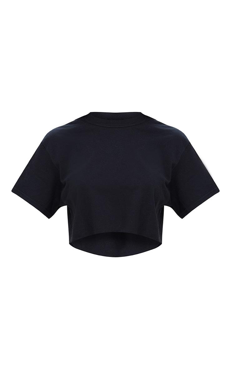 Black Crop T Shirt 3