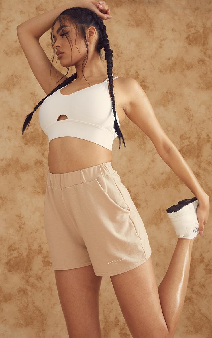 PRETTYLITTLETHING Stone Sport Sweat Shorts 4