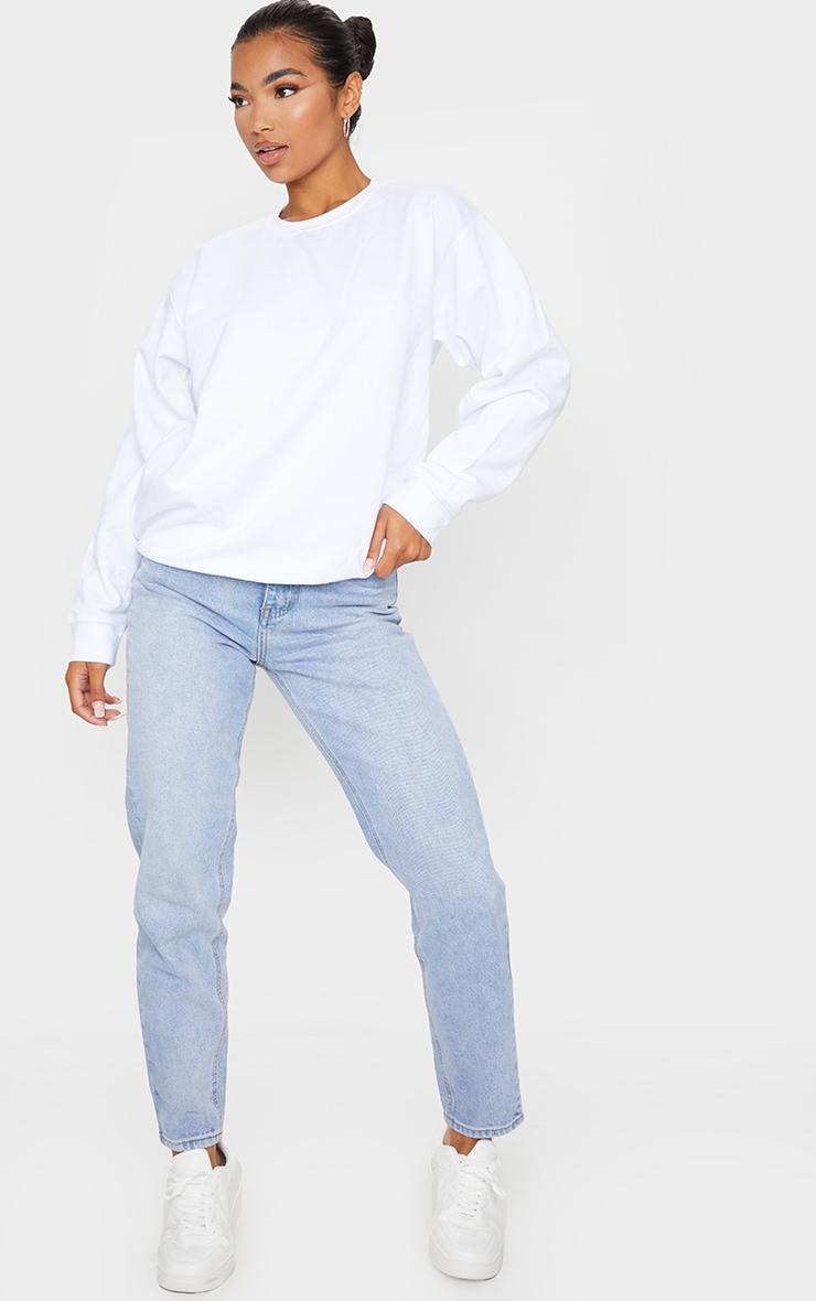 White Ultimate Oversized Sweatshirt 3