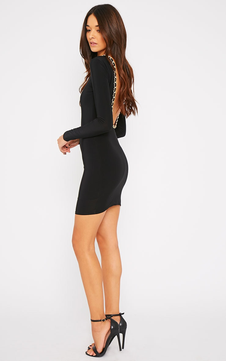 Penelope Black Chain Back Dress 1