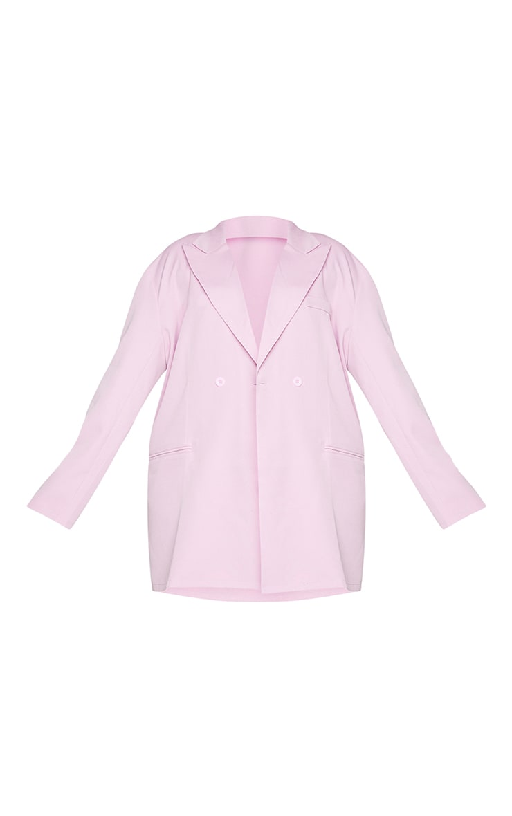 Plus Lilac Relaxed Oversized Blazer 5