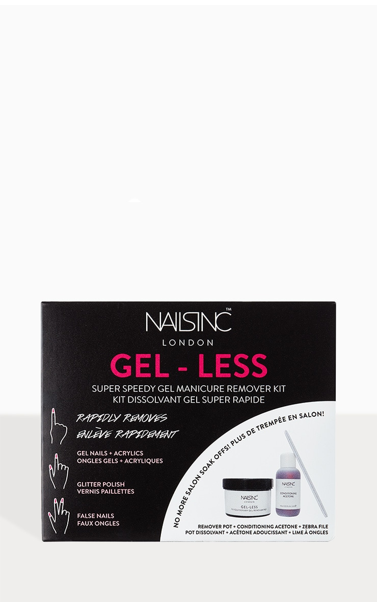 Nails Inc Gel-less Speedy Gel Manicure Remover Kit 1