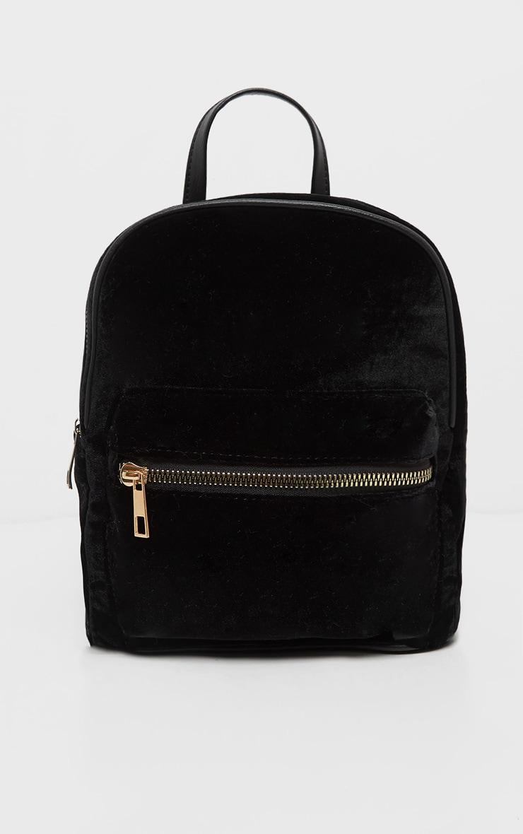 Black Velvet Mini Back Pack 2