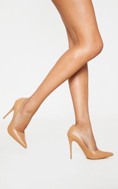 Nude PU Court Shoe
