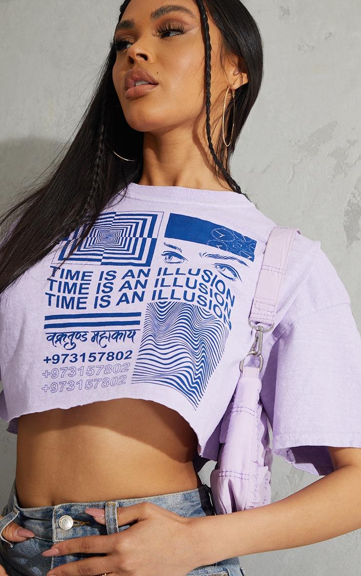 Lilac Illusion Washed T Shirt 4