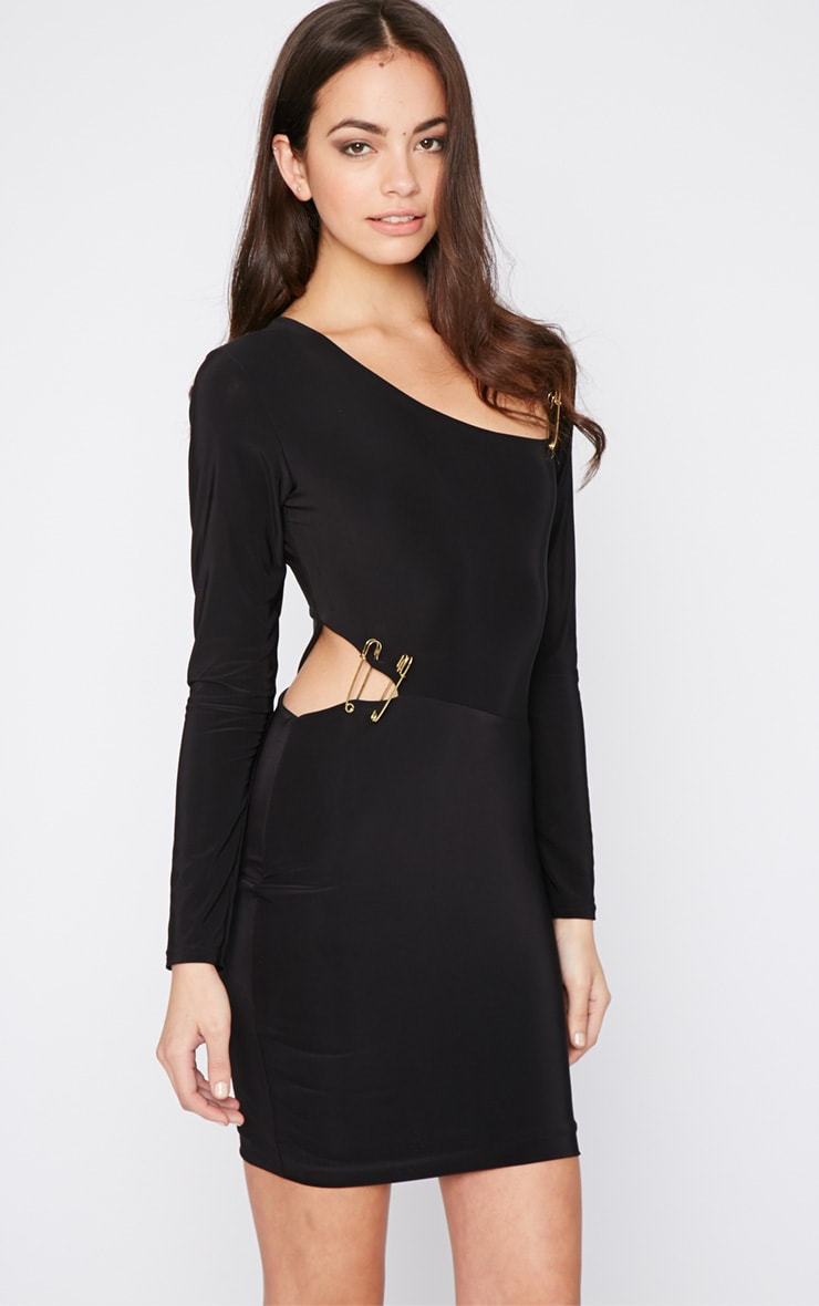 Unay Black Pin Dress 1