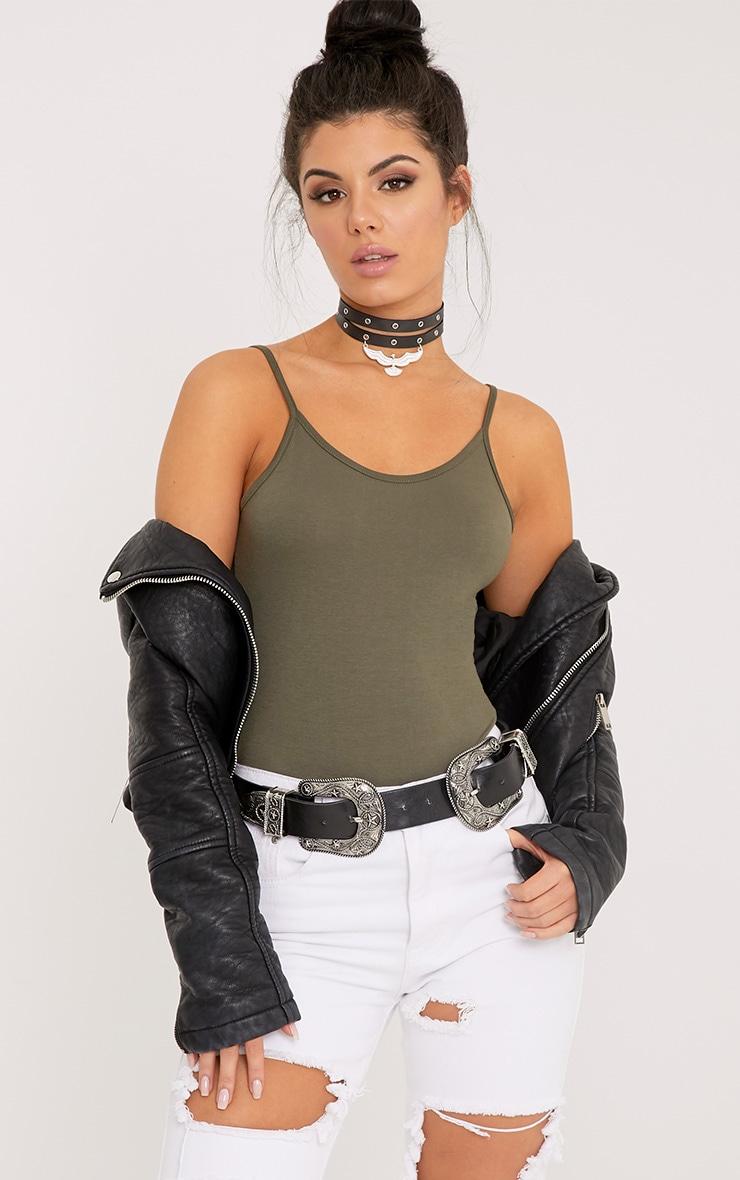 Basic Khaki Bodysuit