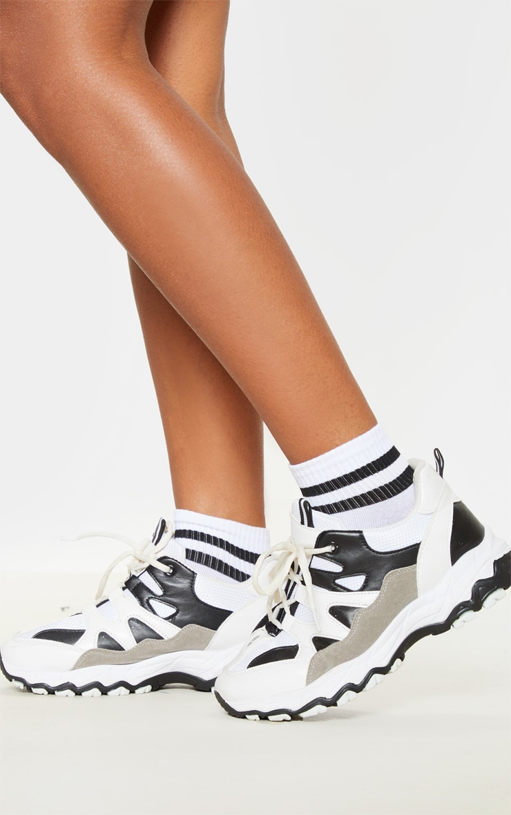 Black And White Two Pack Ankle Socks 1