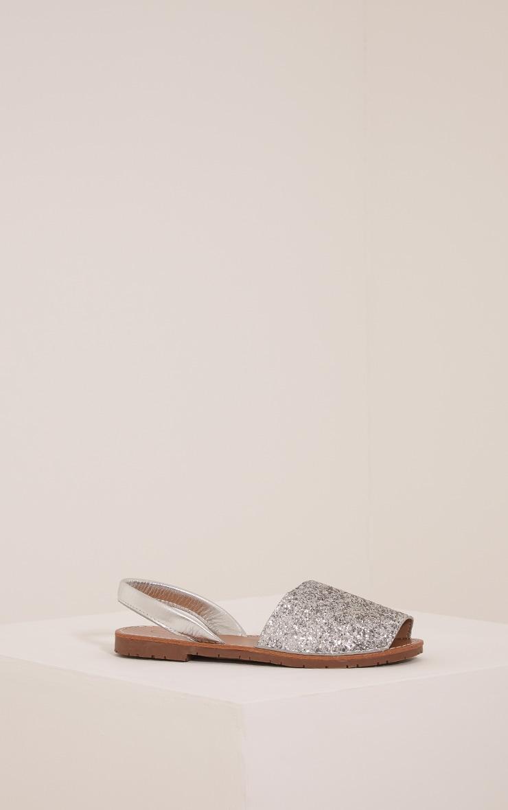 Luciana Silver Glitter Sandals 3