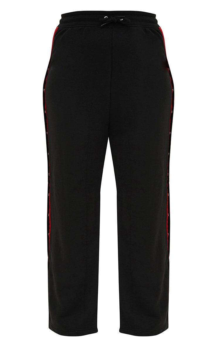Plus Black Popper Side Joggers 3