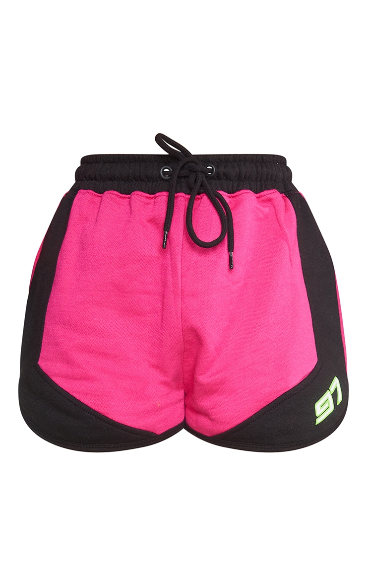Hot Pink 97 Printed Sweat Shorts 7
