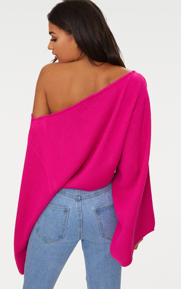 Pink Wide Sleeve Jumper 2