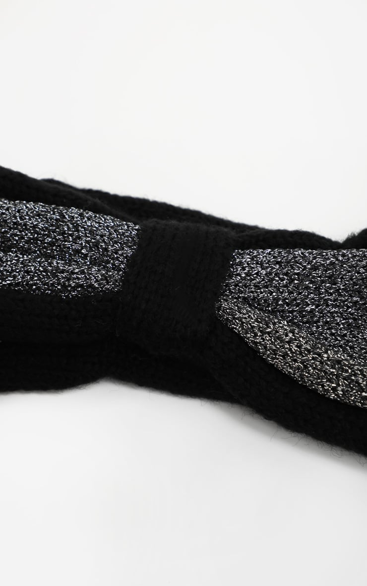 Black And Grey Knotted Head Band 3