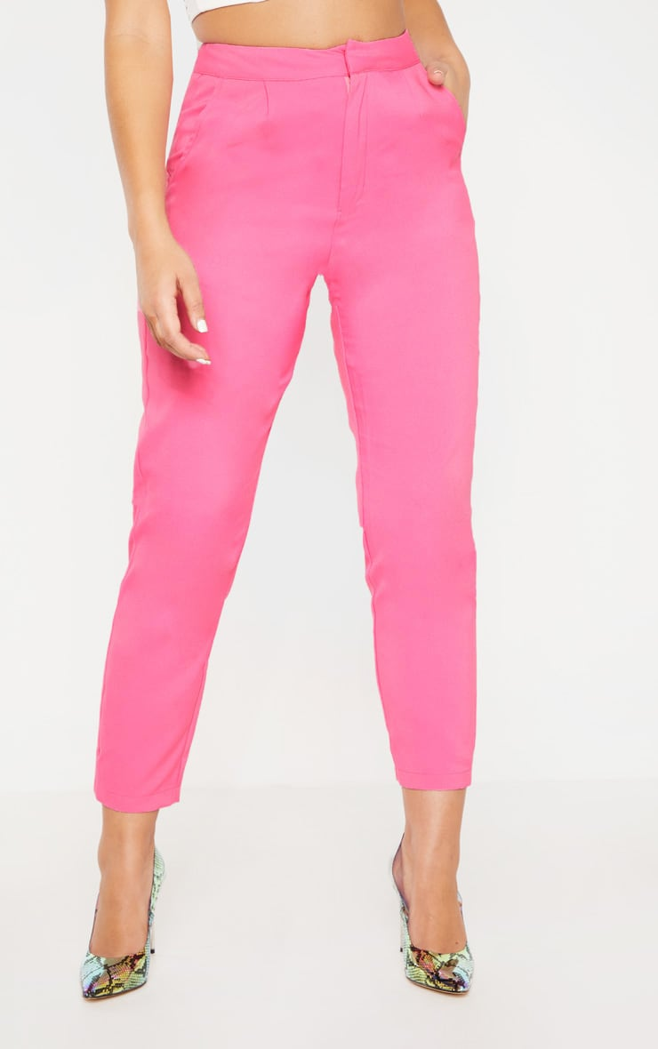 Bubblegum Pink Cropped Trouser  3