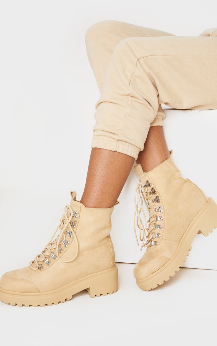 Sand Chunky Sole Hiker Boot 2