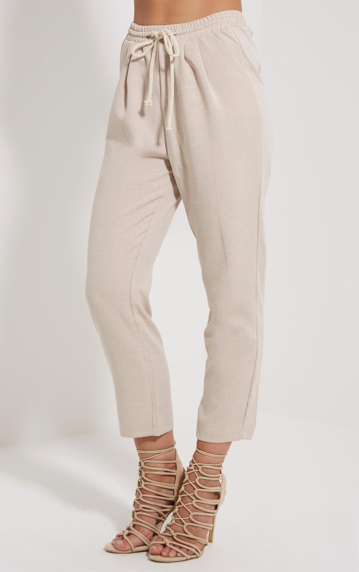 Petite Diya Stone Cropped Trousers 3