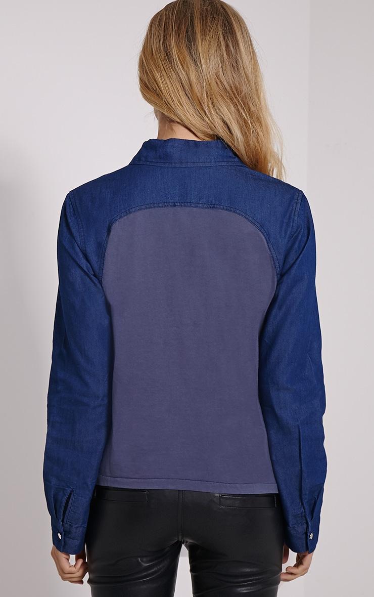 Aria Blue Denim Shirt 2