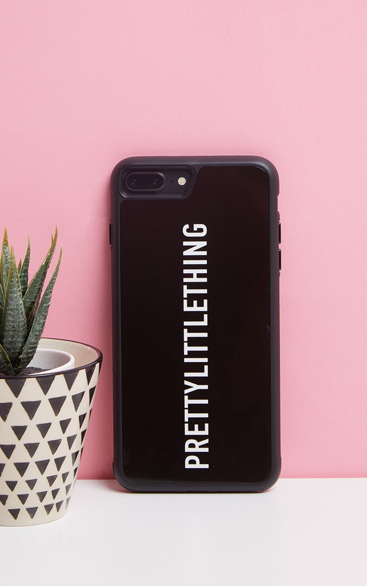 PRETTYLITTLETHING Black Logo iPhone Case 8 Plus 1