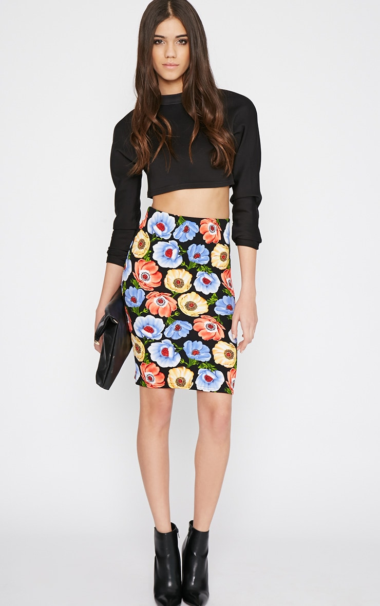 Jennie Multi Print Poppy Midi Skirt -S/M 1