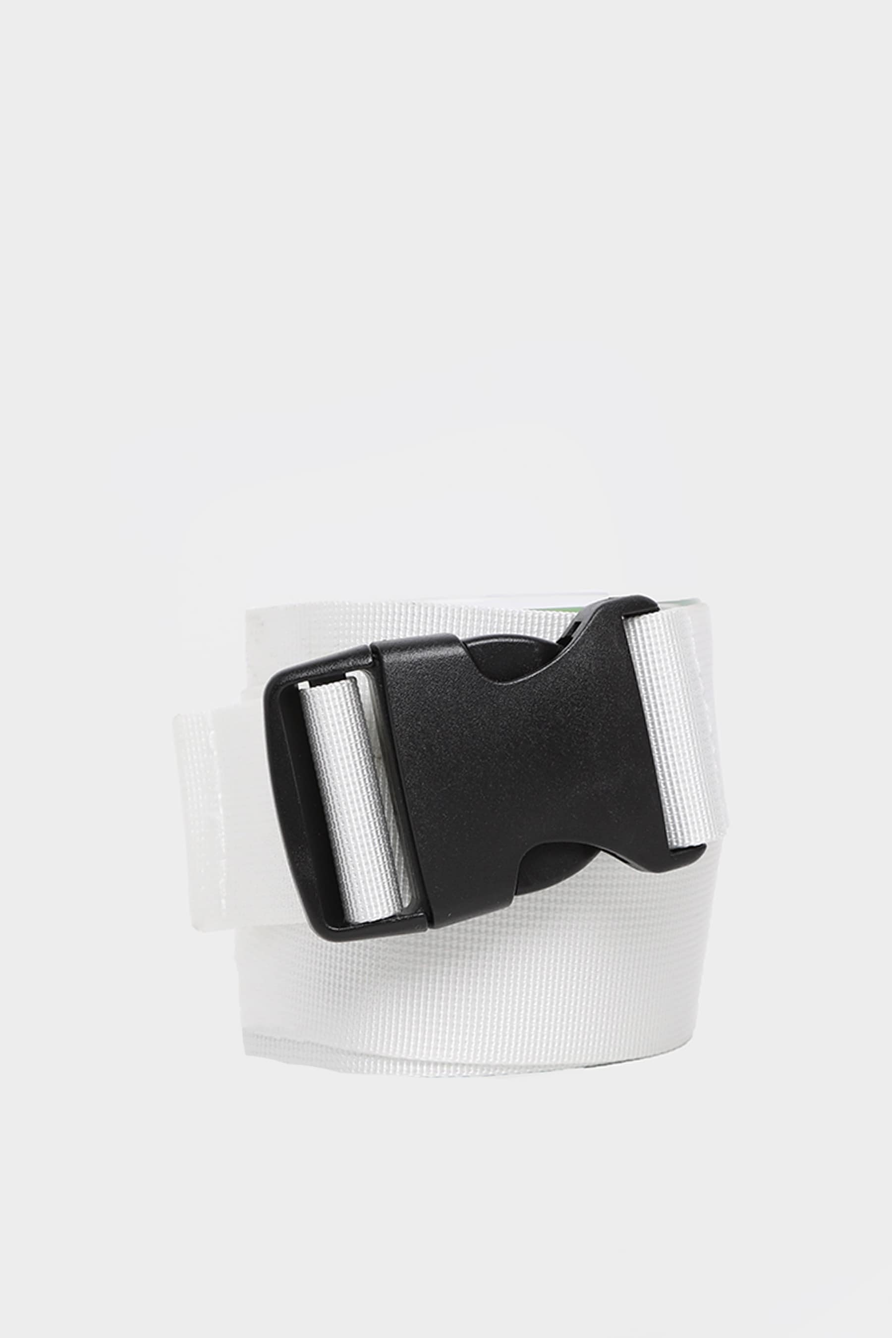 White Tape Buckle Belt 2