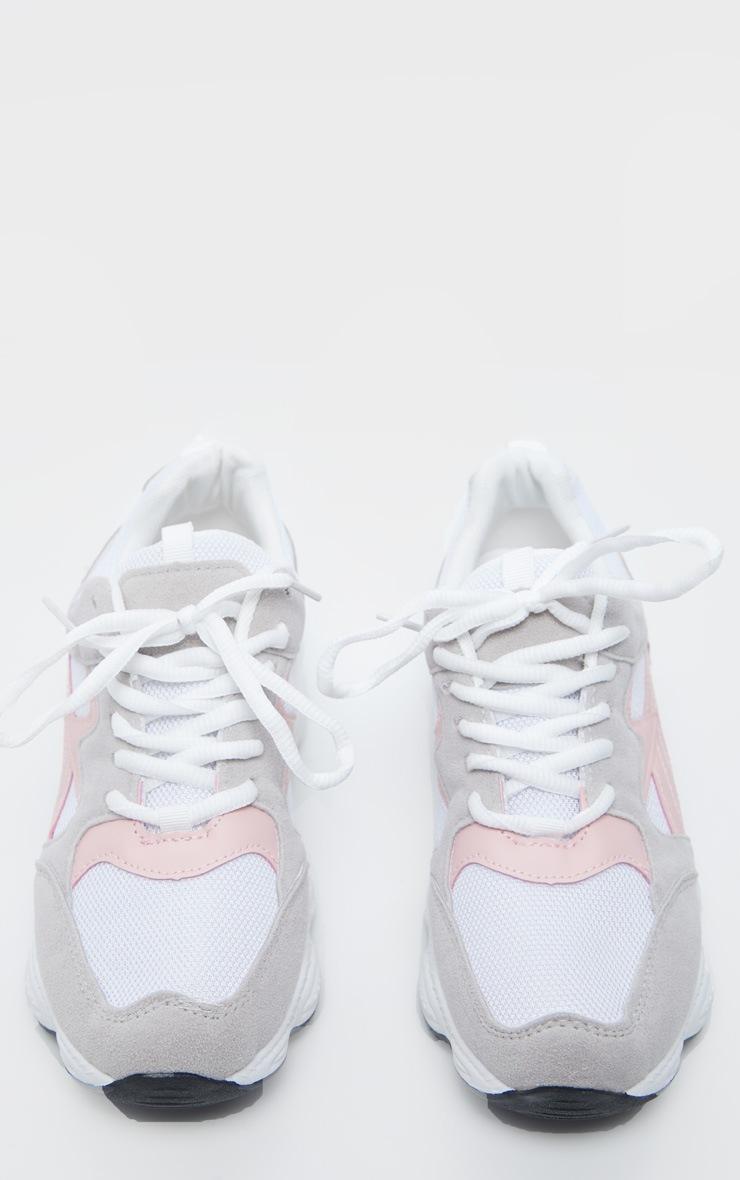 Grey Basic Chunky Sneakers 5