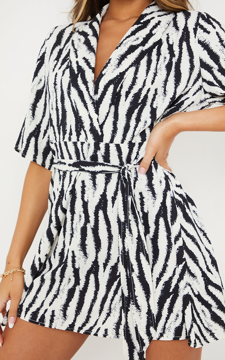 Black Zebra Print Tea Dress 4