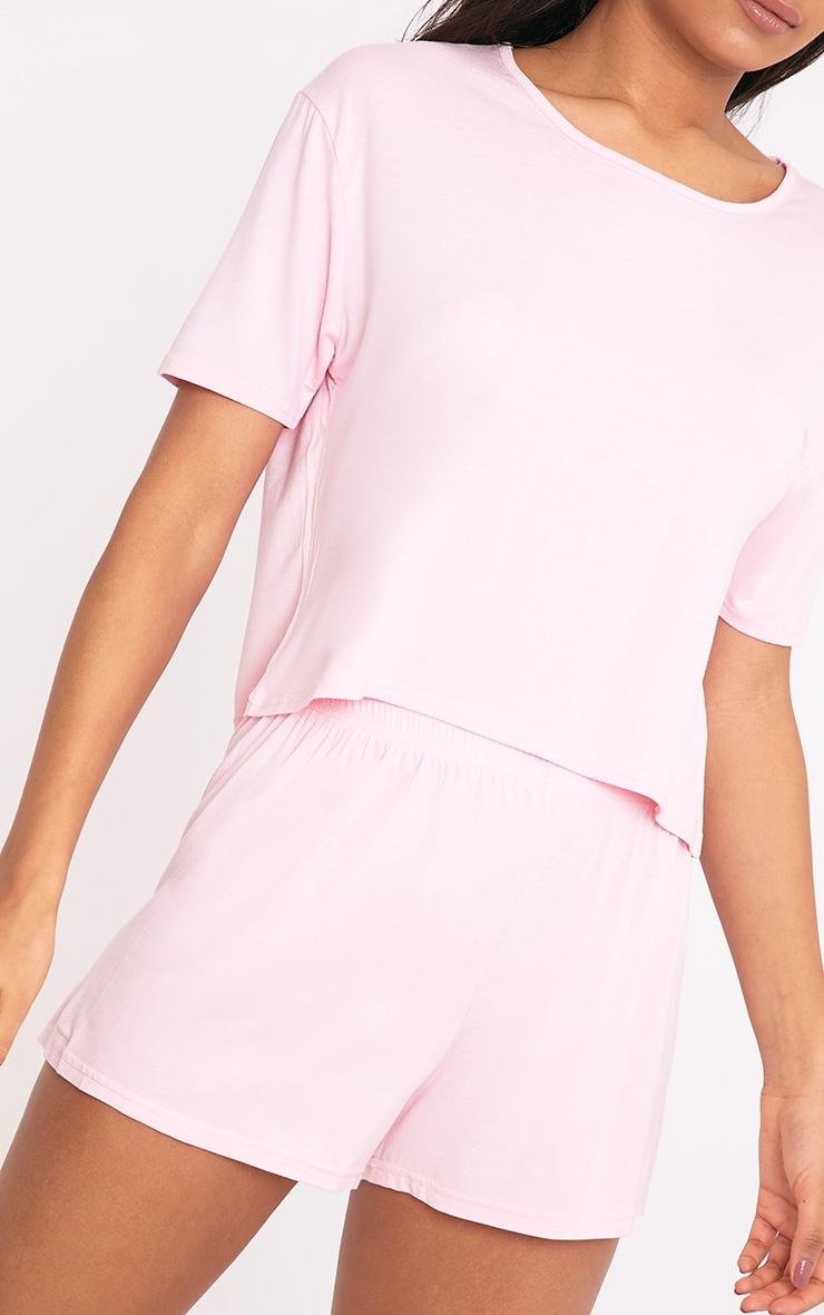 Basic Pale Pink Short Pj Set 5