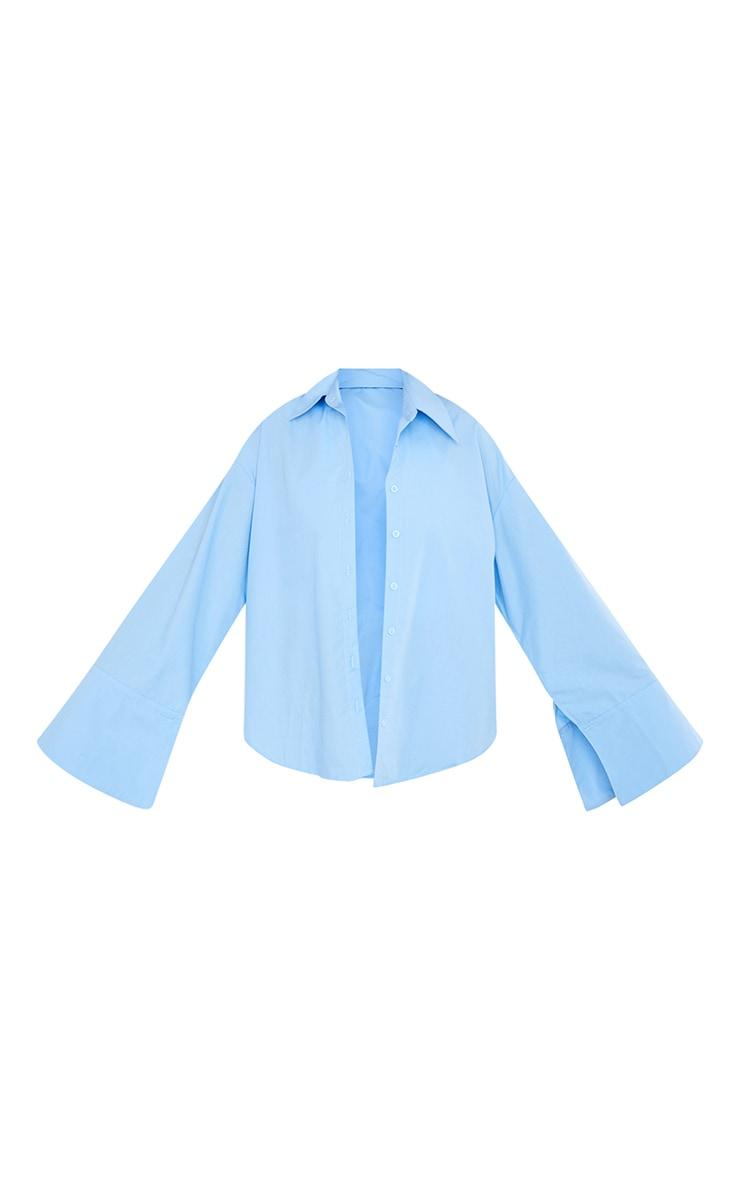Tall Blue Cotton Oversized Shirt 5