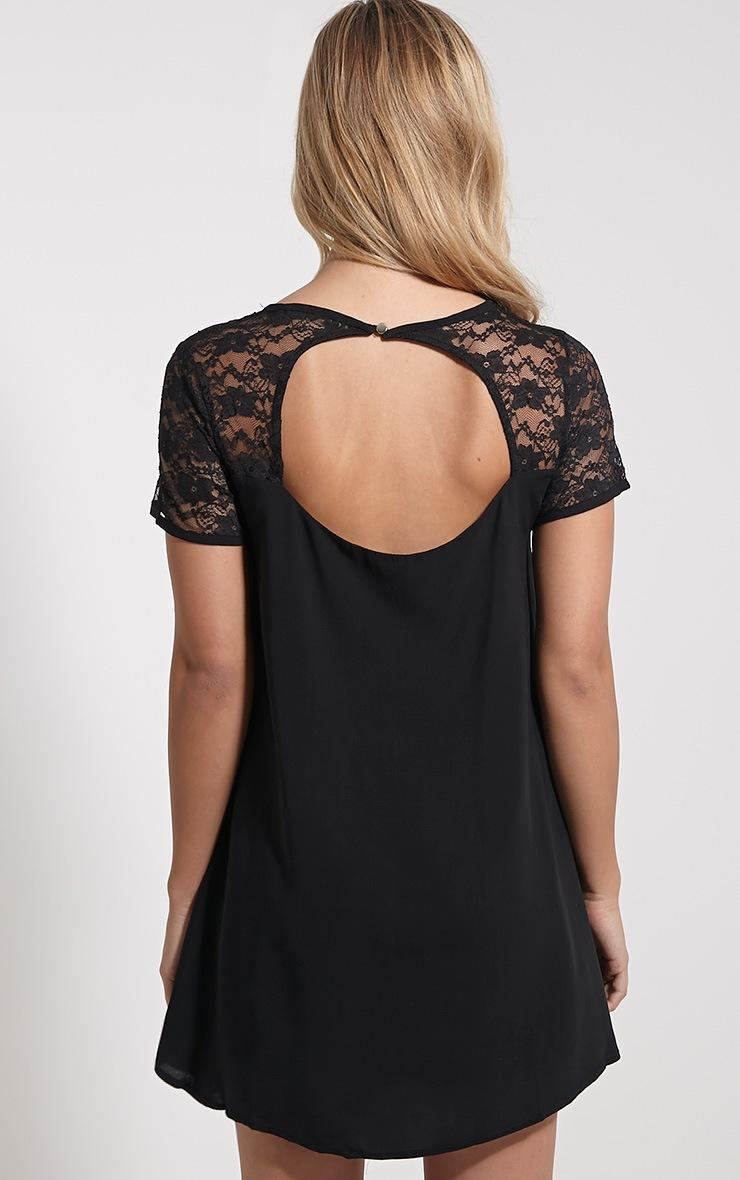 Uri Black Lace Detail Shift Dress 2