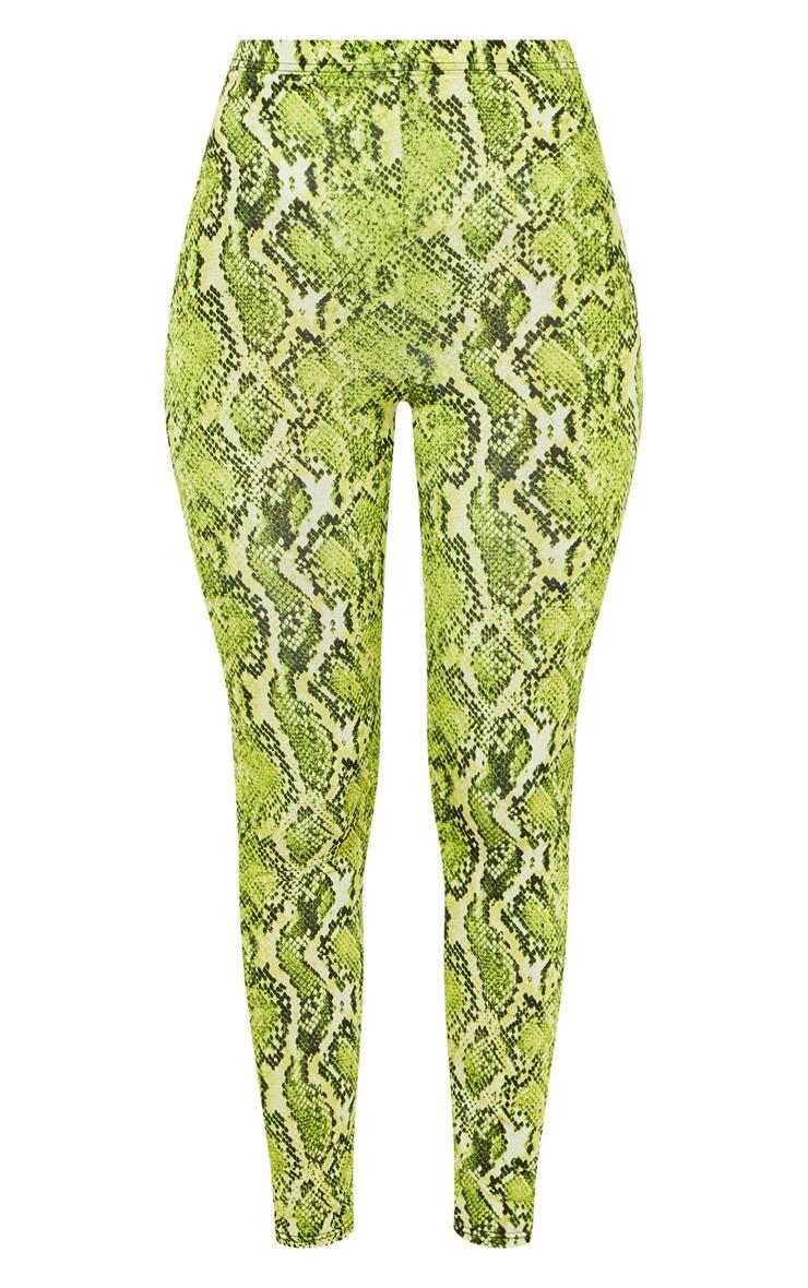 Lime Neon Snake Print Soft Touch Legging 3