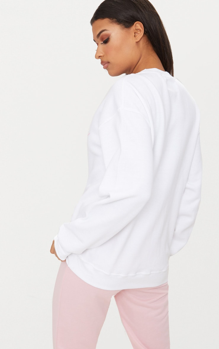 Sweat oversized blanc Darling 2