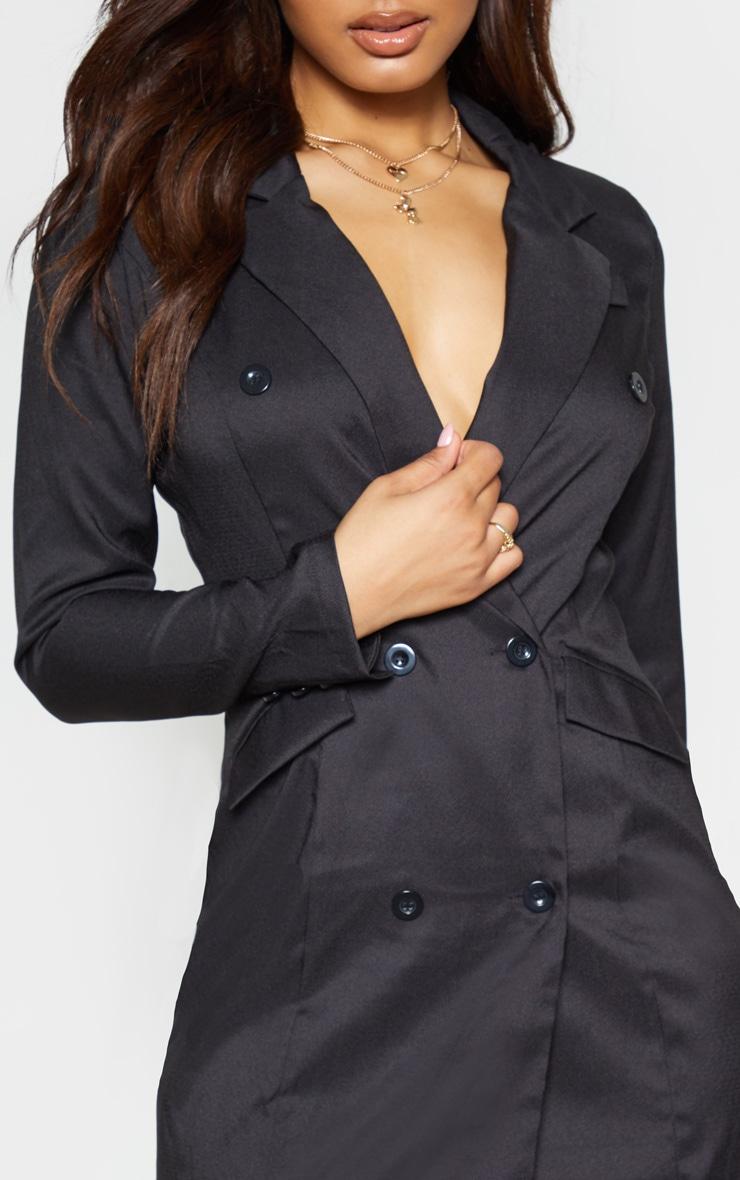 Tall Black Trench Blazer Dress 5