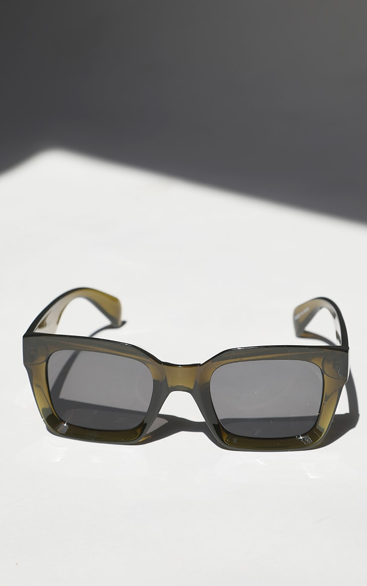 Brown Square Frame Oversized Sunglasses 2