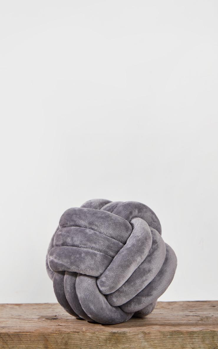 Grey Knot Cushion 4